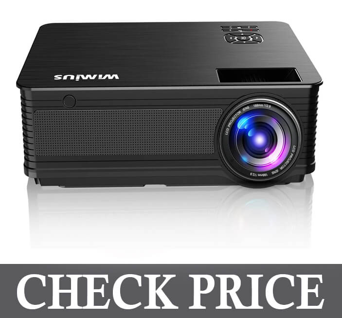 WiMiUS New P18 6800 Lumens 1080P Video Projector