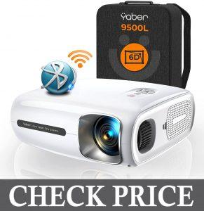YABER Pro V7 9500L 5G WiFi Bluetooth Projector