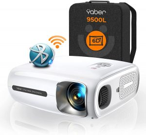 YABER Pro V7 cheapest projector for gaming